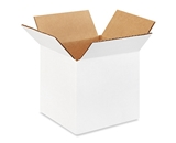 5- x 5- x 5- White Corrugated Boxes (Bundle of 25)