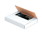 7 1/2- x 5 1/2- x 2- White Corrugated Bookfolds (50 Each Per Bundle)