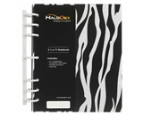 7-Ring Notebook by HaloDex, Zebra, 8.5 x 11, 1.25- Rings