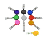 9 Colors X Id Badges Card Holder Office Retractable Reel Key Clip Holders