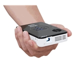 AAXA KP-100-02 P2 Jr Pico Projector with 2 Hour Battery Life, Pocket Size, 20,000 Hour LED Life, Mini-HDMI, Mini-VGA, Media Player , DLP Projector