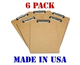 Advantage Hard Board Clipboard with Low Profile Clip, Standard Letter Size (Pack of 6), Earth Friendly and Made in the USA