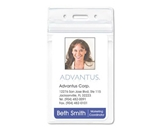 Advantus Resealable ID Badge Holder, Vertical Orientation, 2.625 x 3.75 Inches, Pre-Punched, Box of 50 (AVT75524)