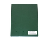 Akiles Polycovers 16 MIL Thick, Dark Green Color (Size: 8.5- X 11- Emboss: LEATHER)