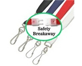 Akiles Red 35- Flat Breakaway Lanyards w/Swivel Hook (100 Pcs)