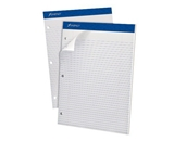 Ampad Evidence Dual Pad, Narrow Ruled, Size 8.5 x 11.75 Inches, White Paper, 100 Sheets Per Pad (20-346)