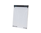 Ampad Shot Note Writing Pad, 8 1/2 x 11 Inches, Wide Ruled, 40 Sheets (20-115)