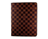 Apple IPAD 1 & 2 & 3 L Fashion BROWN CHECKER FULL CASE