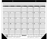 AT-A-GLANCE 2014 Monthly Desk Pad, Black and White, 24 x 19 Inches (SK30-00)