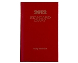AT-A-GLANCE Standard Diary, Recycled Daily Reminder, Red, 2012 (SD385-13)