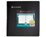 AT-A-GLANCE Three-Year Monthly Planner, 9 x 11 Inches, Black, 2012 (70-236-05)