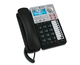AT&T 17939 Corded Phone, Black/Silver, 1 Handset
