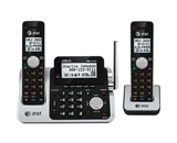 AT&T CL83201 DECT 6.0 Cordless Phone, Black/Silver, 2 Handsets