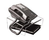 Kantek ATS580 Angled Telephone Stand, Clear Acrylic
