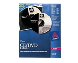 Avery Clear CD Labels for Laser Printers, 40 Disc Labels and 80 Spine Labels (5694)
