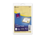 Avery Inkjet Print or Write Notarial Seals, 2 in Diameter, Gold, 44/Pack, PK - AVE05868