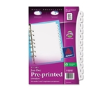 Avery Mini Preprinted Dividers with JAN-DEC Tabs, 5.5 x 8.5-Inches, 12-Tab Set (11315)