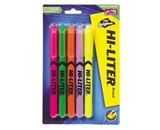 Avery Pen Style HI-LITER, Assorted Fluorescent Colors, Pack of 5 (23555)