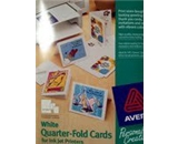 Avery(R), Personal Creations(TM), Quarter-Fold Cards, 3266(TM), White, 4 1/2- x 5 1/2-, 15 Cards and Envelopes, 1 Card/Sheet, 15 Sheets