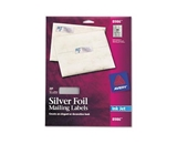 Avery Silver Foil Mailing Labels for Inkjet Printers, 3/4- x 2-1/4-, Pack of 300 (8986)