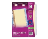 Avery WorkSaver Insertable Tab Dividers, 5-Tab Set, 1 Set (11102)