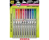 Zebra Zazzle Liquid Highlighter, Assorted Colors, 10 Pack  - 71111