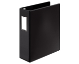 Cardinal Premier Easy Open Locking Slant-D Ring Binder, 3-Inch, with Label Holder, Black  - CRD18741CB