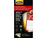 Fellowes Laminating Pouches, Thermal, Luggage Tag with Loop 2 1/2- - H x 4 1/4- - W Size, 5 Mil, 50/Pack  - 52034