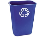 RCP295773BE - Rubbermaid Large Deskside Recycle Container w/Symbol