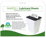 GoECO Shredder Lubricant Sheets - 12 Sheets per Pack (GLS12)