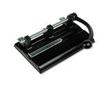Master 40-Sheet Lever Action 2- to 7-Hole Adjustable Punch, 13/32- Holes, Black