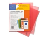 Transparent File Holders, Water Resistant, 11-x8-1/2-, 10 per Pack, Red
