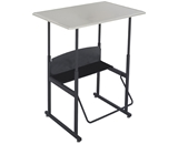 Safco Products AlphaBetter Stool for AlphaBetter Stand-Up Desk, 36- x 24- Standard Top, Beige Top, Black Frame, 1206BE