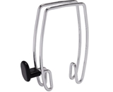 Alba Over-the-Panel Coat Hook, One-Sided, Chrome and Black  - PMHOOK1