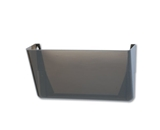 Quill Wall-Mount Letter-Sized Pocket File Holder - Smoke 73730-1