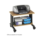 Safco Muv Two Level Adjustable Printer Stand - Medium Oak/Black