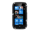 Eagle Cell PDNK710F01 RingBling Brilliant Diamond Case for Nokia Lumia 710 - Black