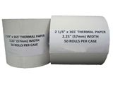 2 1/4- X 165- Thermal Cash Register POS Receipt Paper 50 Rolls / Case