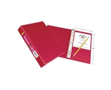 Avery Durable View Binder with 1-Inch Round Ring, Red, 5.5 x 8.5 Inches  - 17163