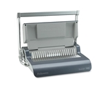 Fellowes Quasar Comb Binding Machine - 500 Sheet(s) Bind - 20 Punch - 5.12- x 18.12- x 15.38- - Gray