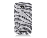 Eagle Cell PDCP5860F370 RingBling Brilliant Diamond Case for Coolpad Quattro 4G 5860e - Black/Siver Zebra