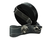 Black Retractable Badge Clip ID Card Holder Reels Plastic With Silver Metal Belt