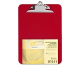 Wholesale CASE of 25 - Nature Saver Recycled Plastic Clipboards 1- Cap, 9-x12-1/2-, Red