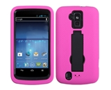 MyBat AZTEN9100HPCSYMS004NP Symbiosis Rugged Hybrid Case for ZTE Force N9100 - Black/Hot Pink