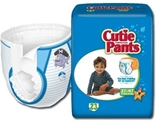 Cuties Refastenable Training Pants- Boys 2T to 3T (Up to 34 lbs)- 26/bag