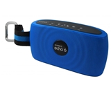 XWAVE echo 6 6W Hi-Fi Portable Wireless Bluetooth Speaker with Built-in Microphone 12 hour rechargeable battery (Blue)