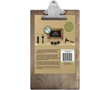 Bottle Cap Clipboard, 6 by 9-Inch, Weathered Wood