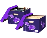Bankers Box Letter / Legal File / Storage Boxes Purple Blossoms - 36301
