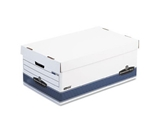 Bankers Box 0070205 Stor/file storage file, lift-off lid, legal size, white/blue, 4/ct