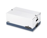 Bankers Box 0070503 Stor/File Storage File, String/Button Tie, 15 x10x24, Letter, White, 4/ct